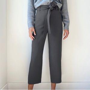 "Aritzia Wilfred tie front pants grey 27"" trouser"